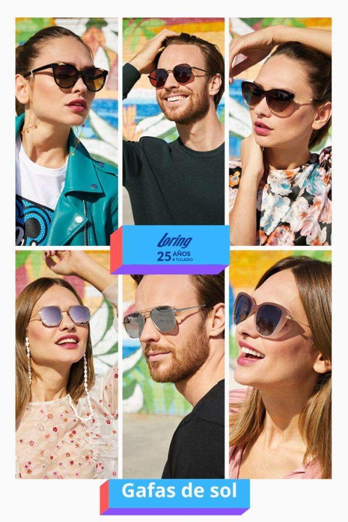 Gafas de sol marca Loring.